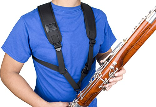 Bassoon Deluxe Padded Harness W  Open Metal Hook B by