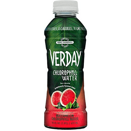 Verday Chlorophyll Water, Watermelon, 16oz, (Pack of 4)