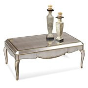 Bassett T1267-100 Collette Mirrored Rectangular Cocktail Table