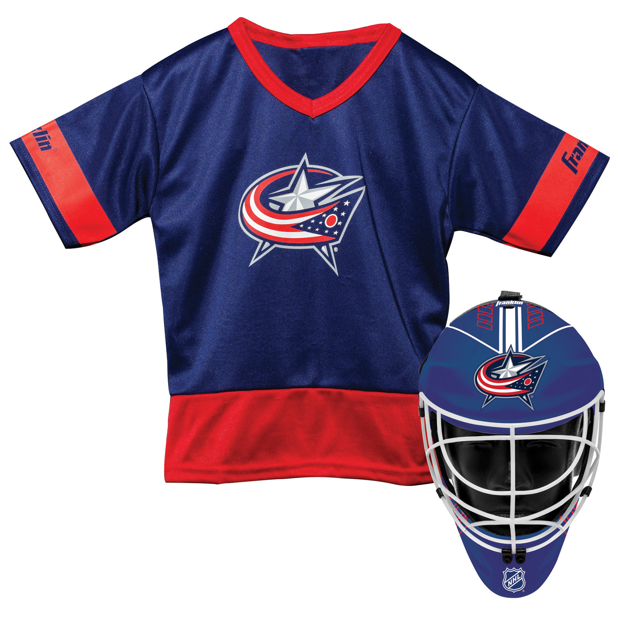 Franklin Sports NHL Columbus Blue Jackets Youth Team Uniform Set