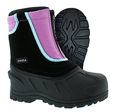 Itasca SNOW STOMPER Girls Raspberry Red Zip Up Warm Winter Snow Boots by Itasca