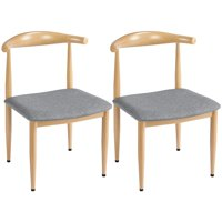 Deals on SmileMart 2PCS Modern Dining Chairs Armless Fabric Seat