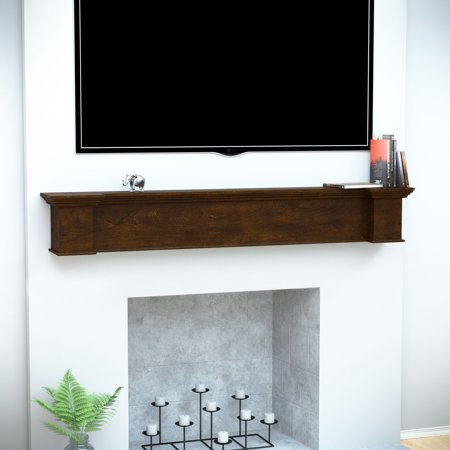 Anders Fireplace Mantel Shelf, Traditional, American Walnut