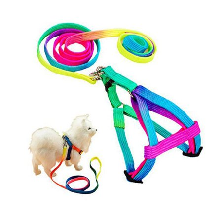 Sit Harness (Cat Dog Harness and Leash Set Nylon Adjustable Puppy Colorful Harnesses Lead )
