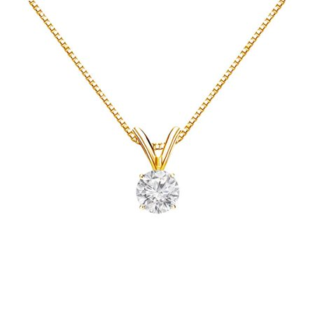 0.33CT 14K Yellow Gold April Birthstone Diamond Pendant - image 1 de 1