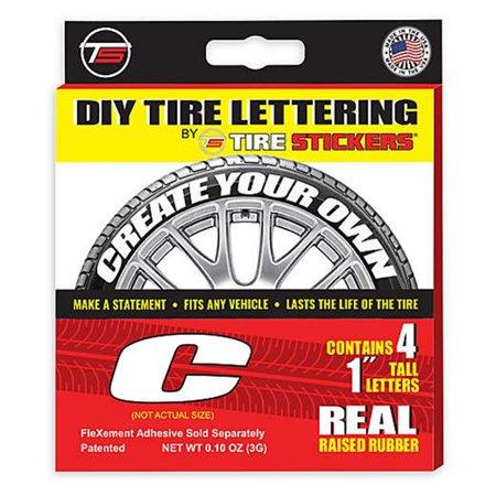 Tire Sticker 9766020029 Letter C Tire Stickers & Film, White - Pack of (Tire Sticker)