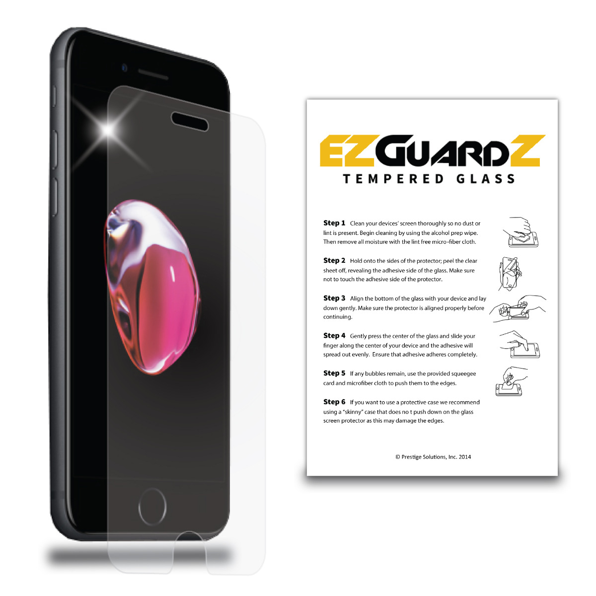EZguardz Tempered Glass Screen Protector For Apple Watch / iWatch Edition 38mm