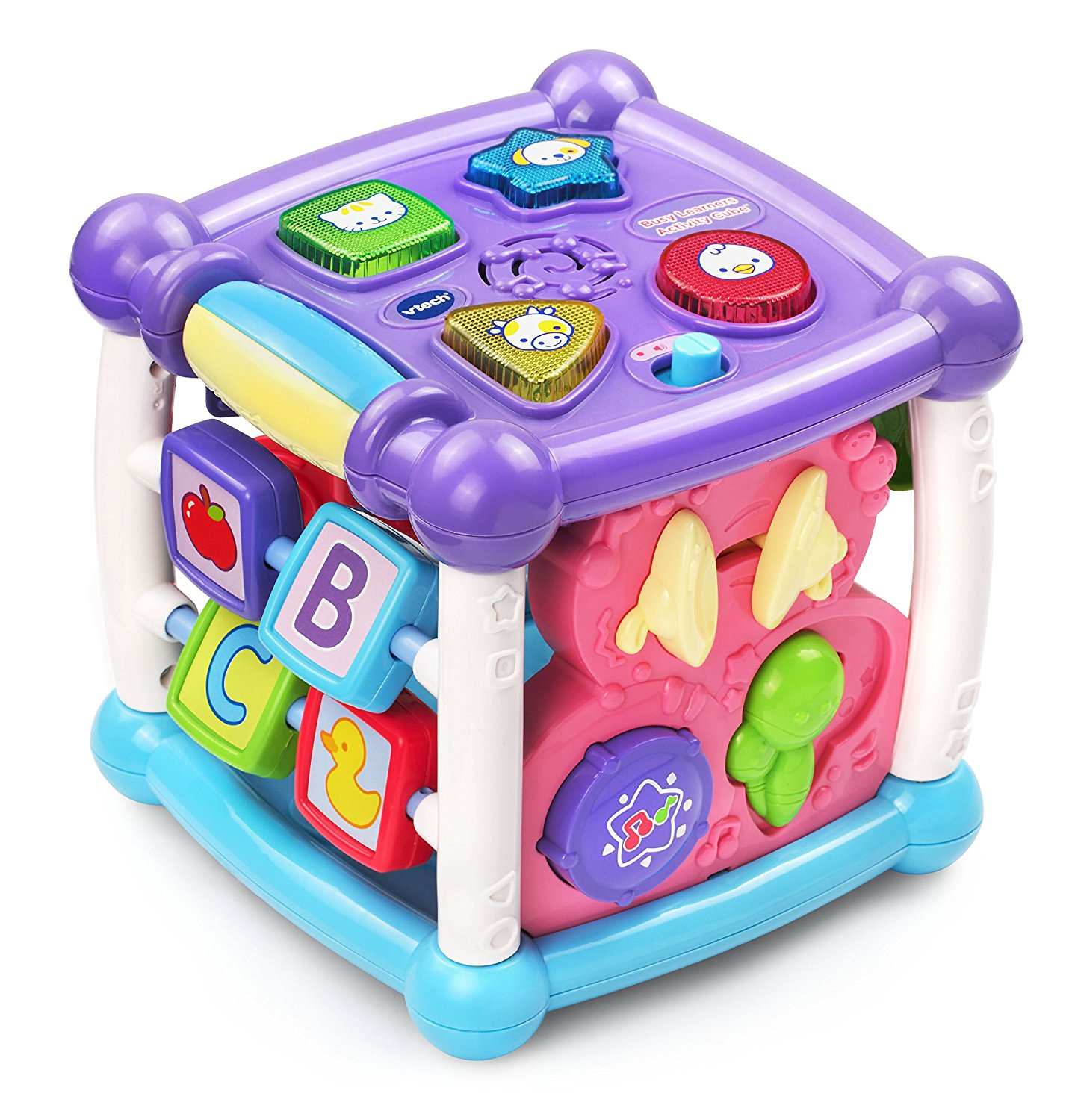 VTech Busy Learners Activity Cube , 14 interactive features and 25 playful songs, Purple... by