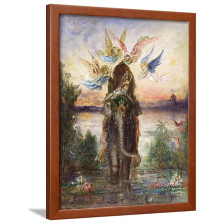The Sacred Elephant (Pér) Framed Print Wall Art By Gustave Moreau