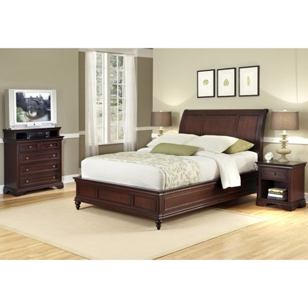 Home Styles Lafayette Queen/Full Sleigh Headboard, Rich Cherry