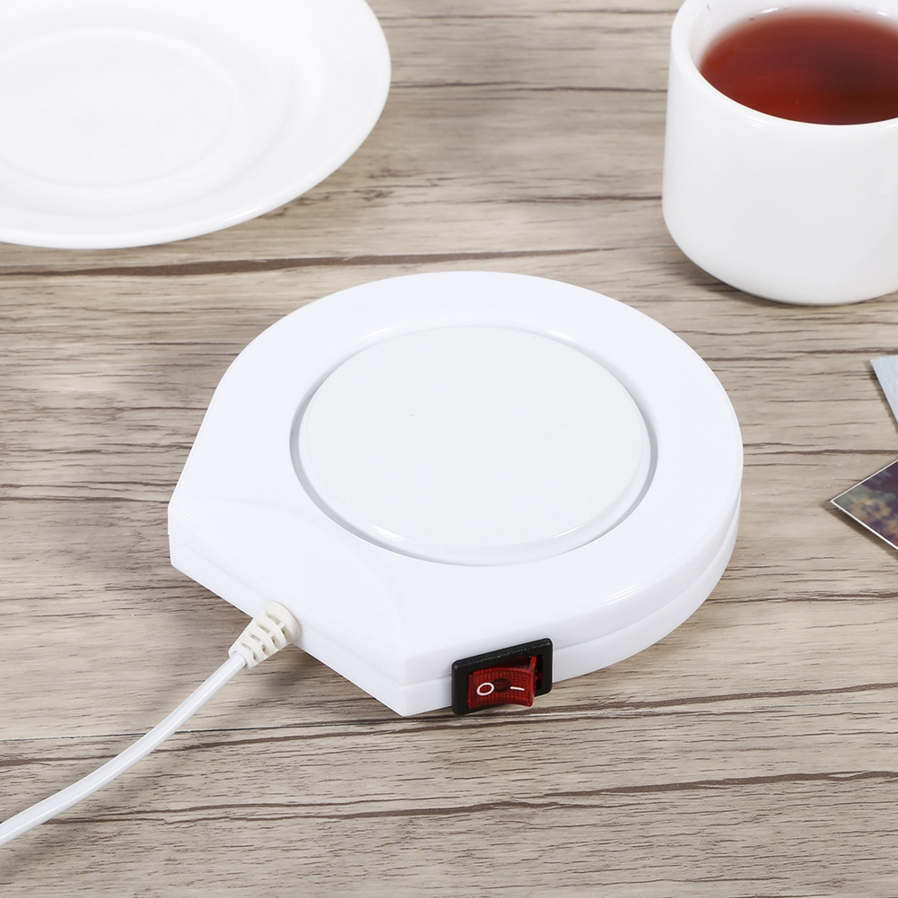Ymiko 110V  White Electric Powered Cup Warmer Heater Pad Coffee Tea Milk Mug US Plug, electric powered pad ,mug pad