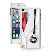 For Apple iPod Touch 5th / 6th Generation Hard Back Case Cover Doctor Lab Coat Stethoscope (White)