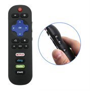 New RC280 Replaced Remote Control compatible with TCL Roku 32S305 49S405 TV with Hulu Starz Netflix Sling APP Key