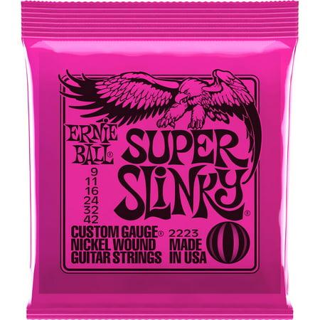 Ernie Ball Super Slinky Custom Gauge Nickle Wound Guitar Strings - Nickel Wound Set, .009 - .042