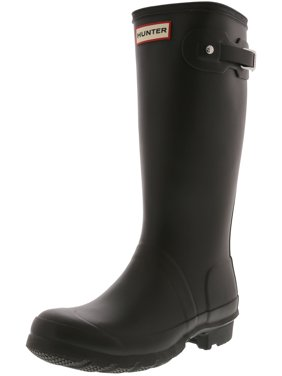 Hunter Original Kids Black Mid-Calf Rubber Rain Boot - 1M