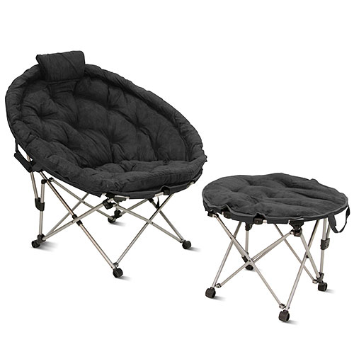 mac at home extra large moon chair with ottoman. mac at home extra large moon chair with ottoman, charcoal gray ottoman walmart