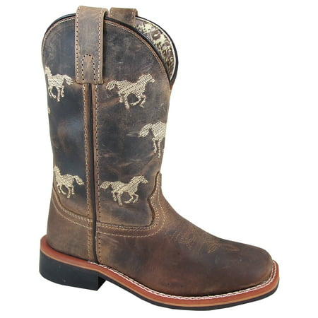 Kid'S Rancher Brown Oil Distress Leather Cowboy Kids Boot - image 1 de 1