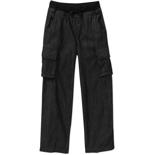 Faded Glory Boys' Pull On Cargo Pants with Drawstring