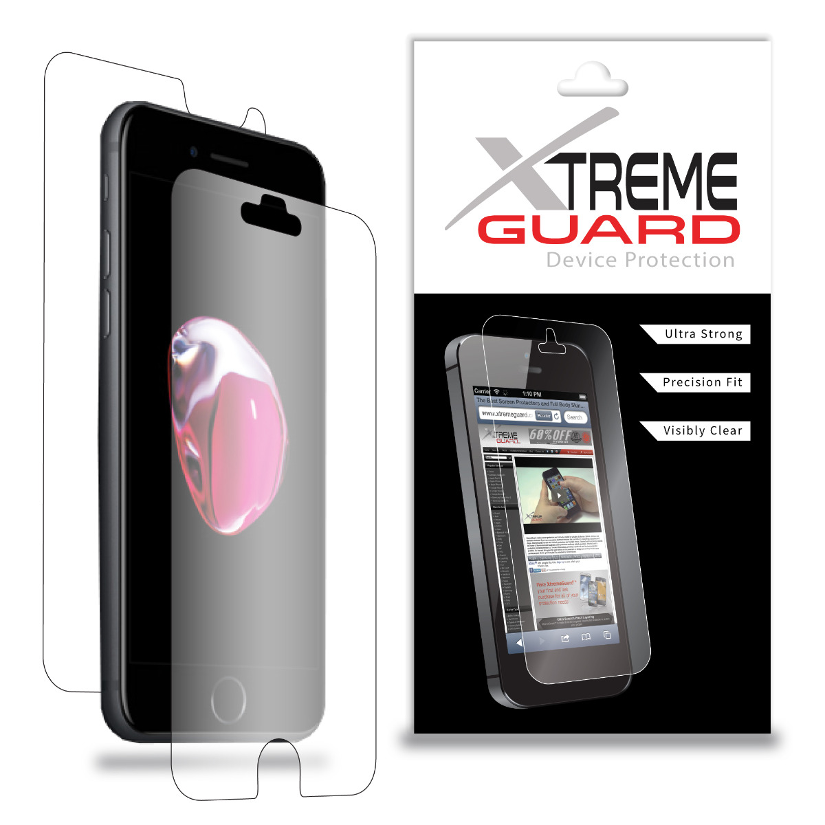 XtremeGUARD Apple iPod Touch 4th Generation Full Body Screen Protector Front,...