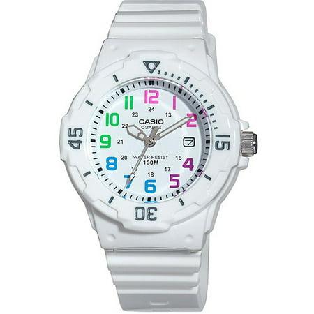 Casio Women's Dive Style Watch, White/Multi-Color LRW200H-7BV