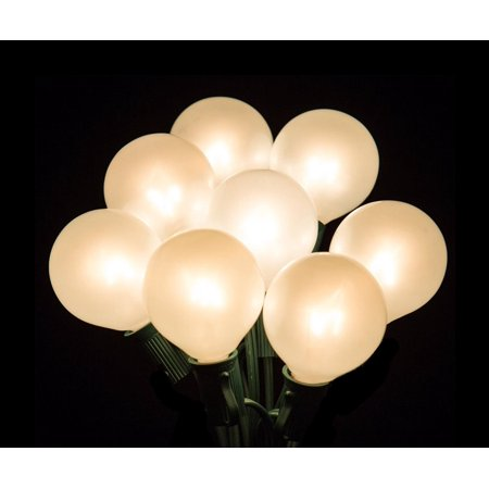set of 20 clear white opaque g50 globe party wedding christmas lights green wire