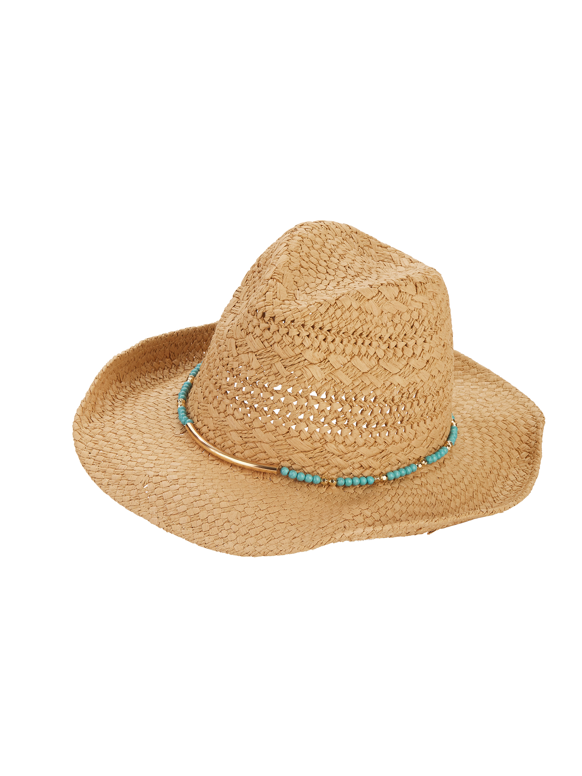 Time And Tru Turquoise Beads Cowboy Hat Walmartcom