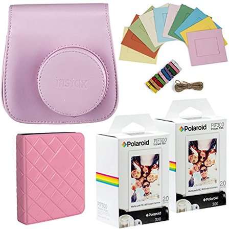 Polaroid PIF300 Instant Film - Designed for use with Fujifilm Instax Mini and PIC 300 Cameras (40 pack) Deluxe (Uses Of Polaroids)