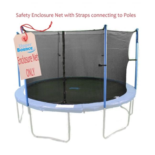 Upper Bounce UBNET-14-4-IS 14 ft.  Trampoline Enclosure Safety Net Fits For 14 FT.  Round Frames Using 4 Poles or 2 Arches