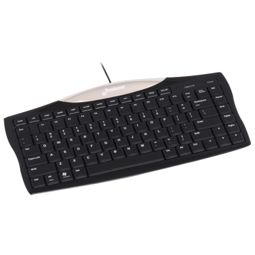 Evoluent EKB Evoluent Essentials Full Featured Compact Keyboard - Cable Connectivity - Compatible with Computer - Cut, Copy, Paste, Internet, Email, Mute, Volume Down, Volume Up, Sleep, Power, My
