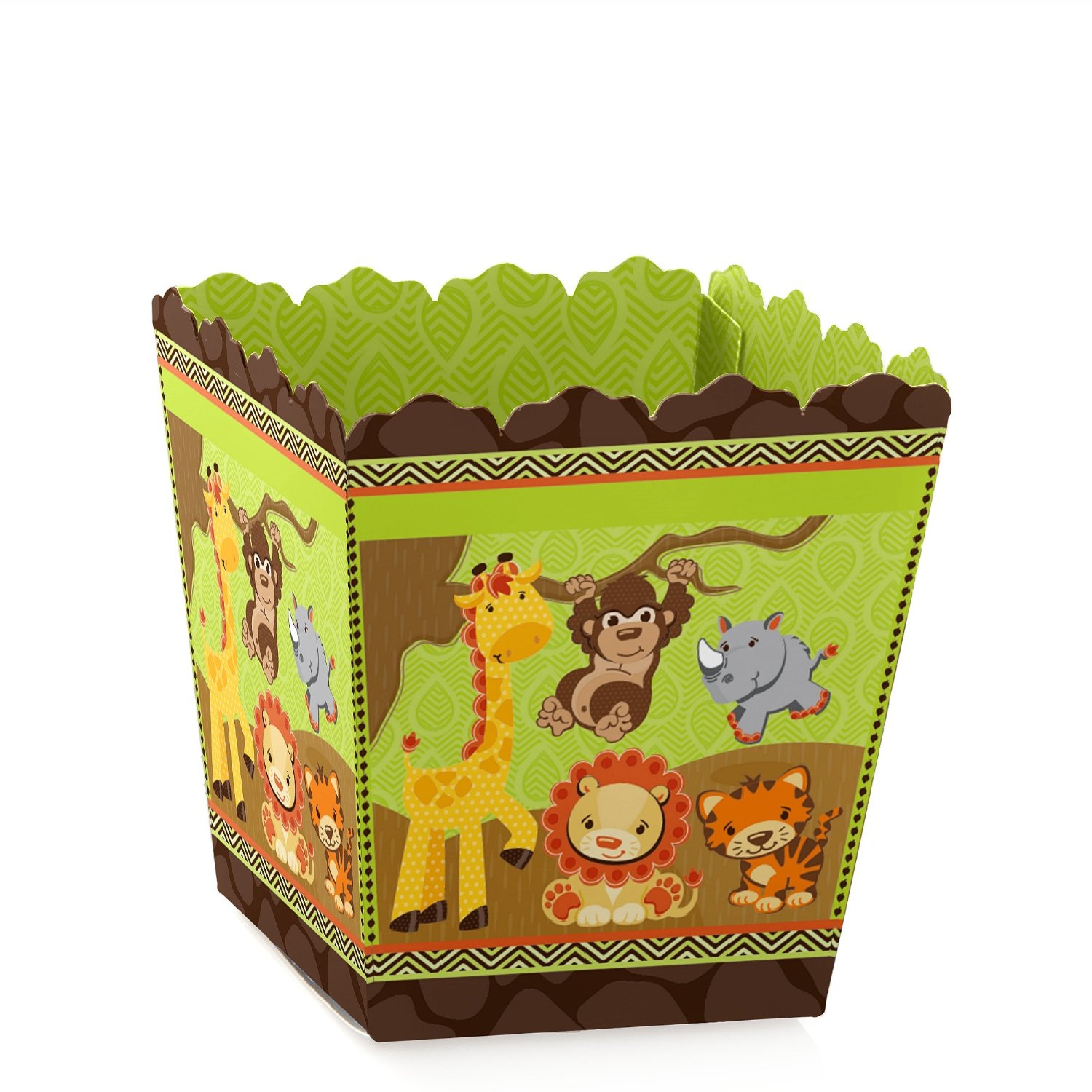 Funfari - Fun Safari Jungle - Party Mini Favor Boxes - Baby Shower or Birthday Party Treat Candy Boxes - Set of 12