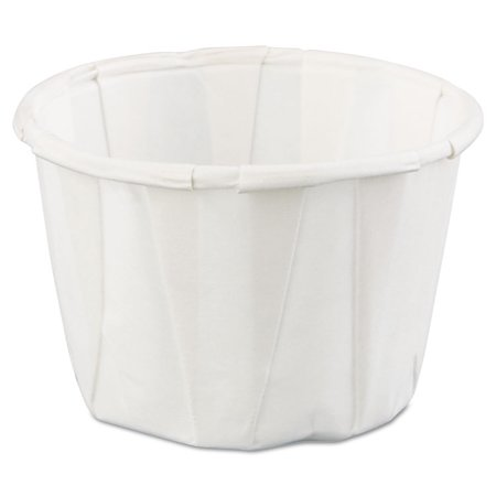 Squat Paper Portion Cup, 1oz, White, 250/Bag, 20 Bags/Carton Squat Paper Cup