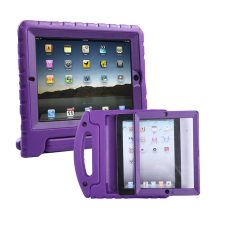 quality design 84199 dba62 HDE iPad 2 3 4 Bumper Case for Kids Shockproof Hard Cover Handle Stand with  Built in Screen Protector for Apple iPad 2nd 3rd 4th Generation (Purple)