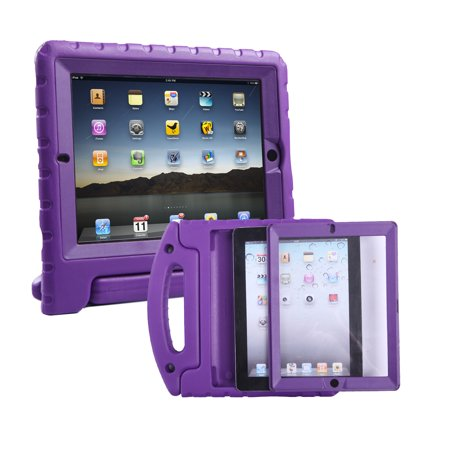 HDE iPad 2 3 4 Bumper Case for Kids Shockproof Hard Cover Handle Stand with Built in Screen Protector for Apple iPad 2nd 3rd 4th Generation