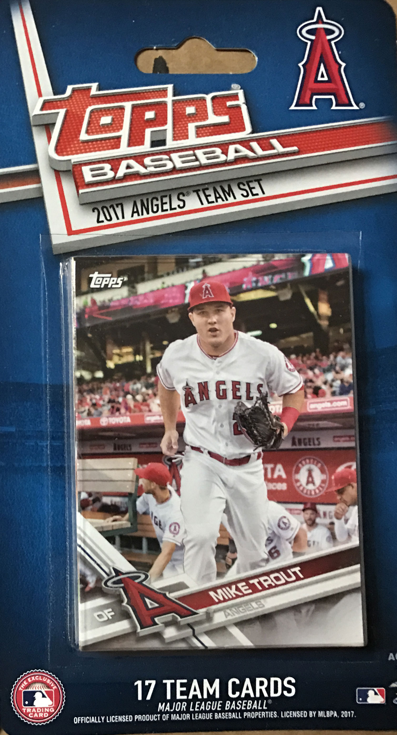 Los Angeles Angels 2017 Topps Factory Sealed Special Edition 17 Card Team Set With Mike Trout And Albert Pujols Plus