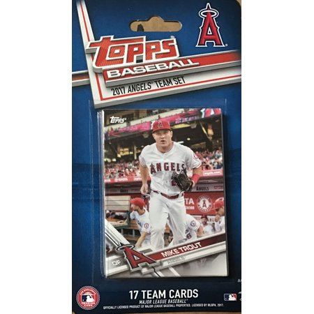 Los Angeles Angels 2017 Topps Factory Sealed Special Edition 17 Card Team Set with Mike Trout and Albert Pujols Plus (Mike Jackson Baseball Cards)