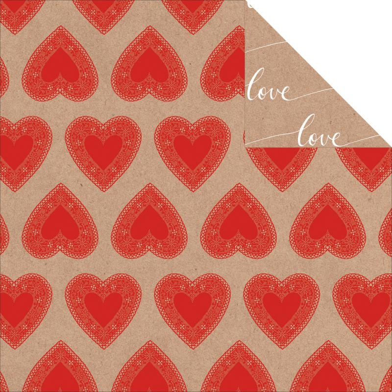 """Mix & Match Double-sided Cardstock 12""""x12""""-hearts"""