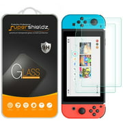 [2-Pack] Supershieldz for Nintendo Switch Tempered Glass Screen Protector, Anti-Scratch, Anti-Fingerprint, Bubble Free