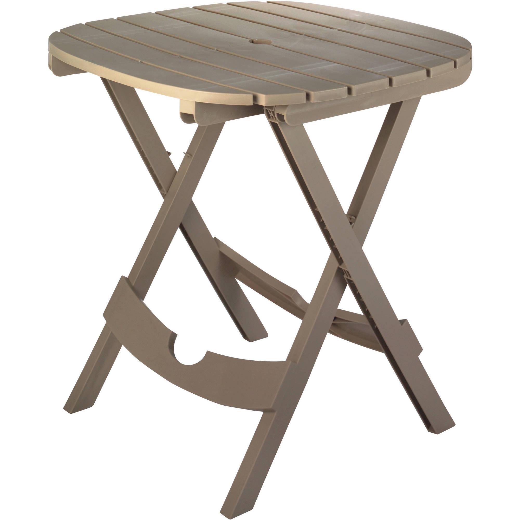 Image of Adams Manufacturing Resin Quik-Fold Cafe Table, Portobello