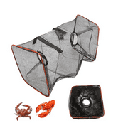 On Clearance Portable Fishing Bait Foldable Net Trap Cast Dip Cage Crab Fish Minnow Crawdad Shrimp
