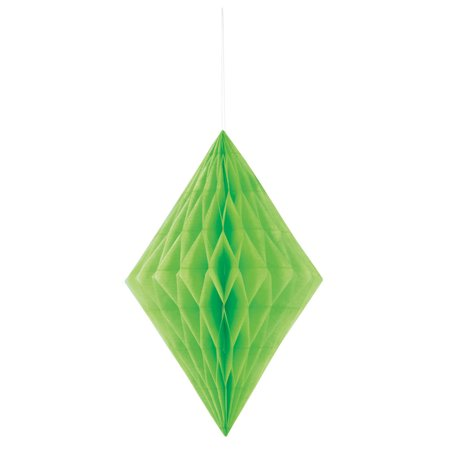 Diamond Tissue Paper Decoration, 14 in, Lime Green, - Mint Green Tissue Paper