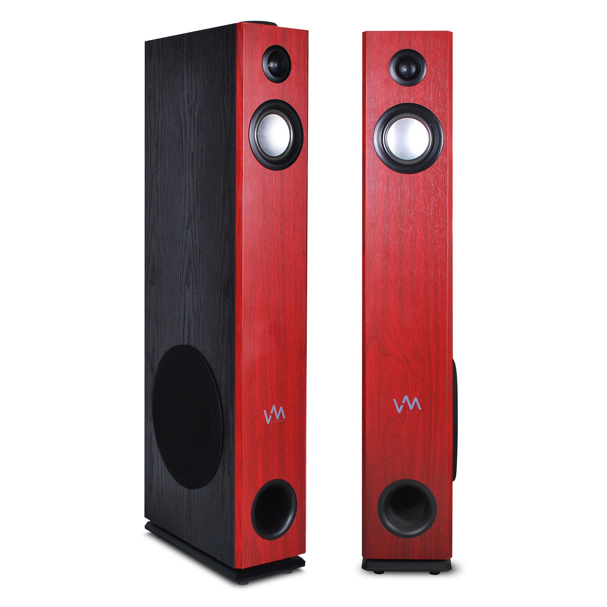 VM Audio Cherry Floorstanding Powered Bluetooth Tower Speakers, Pair | EXAT10