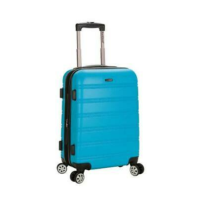 """Melbourne 20"""" Expandable Abs Carry On, Turquoise"""