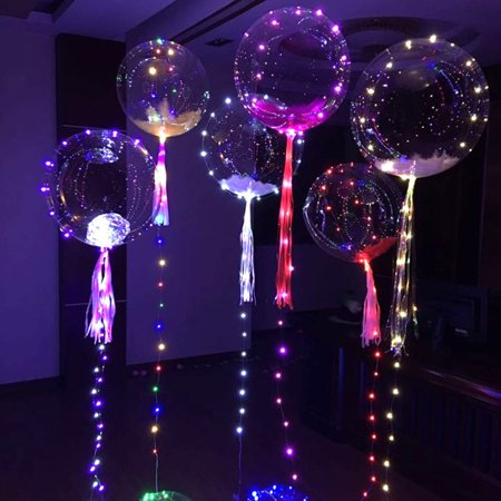Micelec Light Up Clear Balloon String Light Wedding Christmas Halloween Party Decoration
