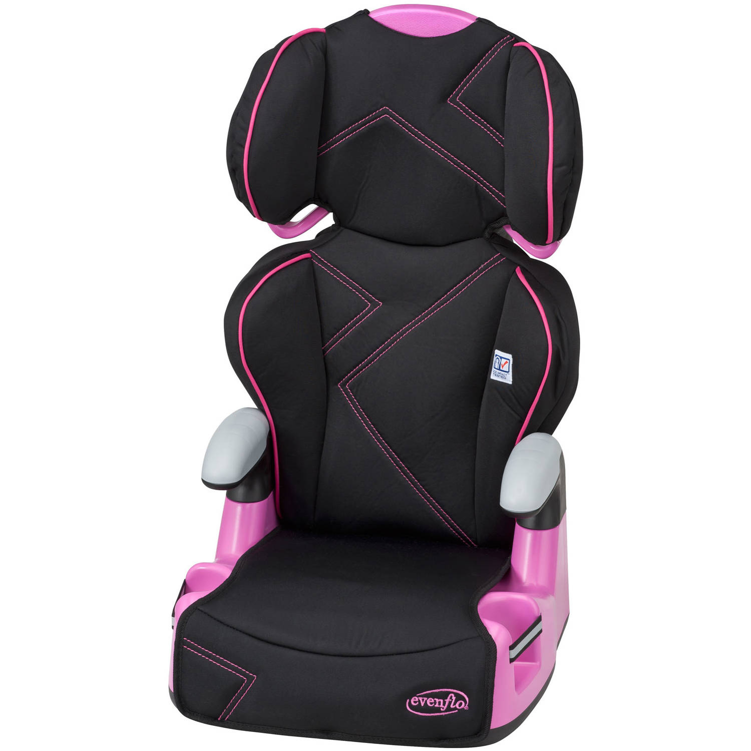 Evenflo Big Kid Amp Booster Car Seat, Pink Angles