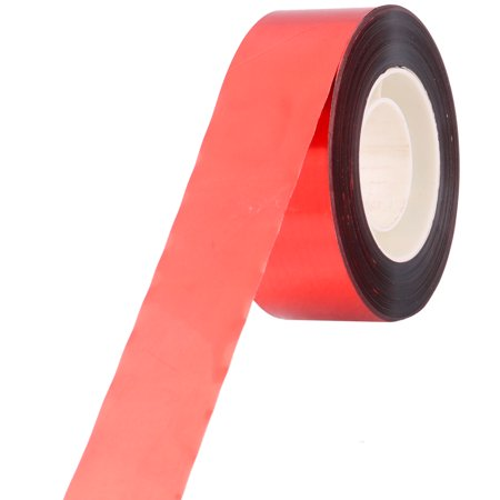 Polyester Double Side Bird Scare Plant Fruit Protection Tape Red Silver Tone 80M