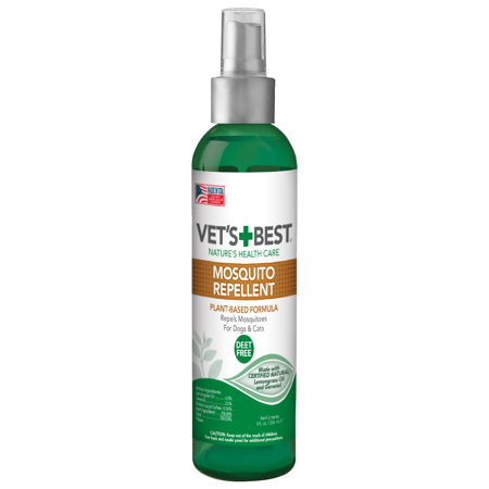 Vet's Best Mosquito Repellent for Dogs and Cats | Repels Mosquitos with Certified Natural Oils | Deet Free | 8