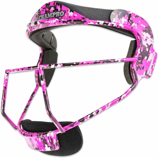 Champro Softball Fielder's Mask - Youth Dig. Camo Pink