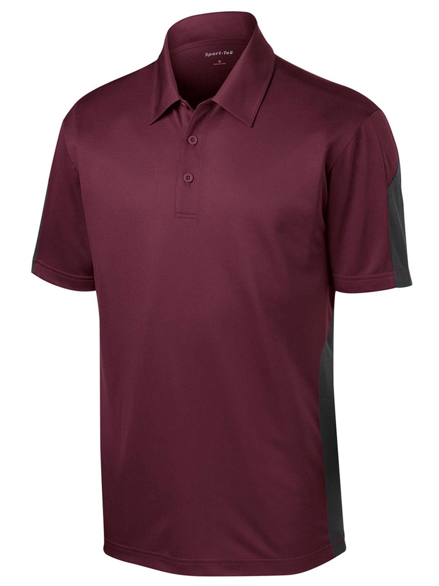 Sport Tek Sport Tek Mens Textured Moisture Wicking Polo Shirt