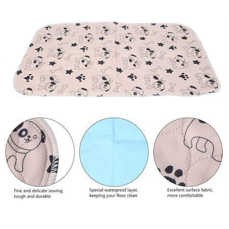 Yosoo 3 Sizes Reusable Waterproof Puppy Dog Cat Pee Bed Pad Carpet Urine Pet Trainging Mat, Reusable Dog Pee Pad,Dog Pee Pad - image 2 de 5