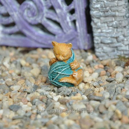 Fairy Kitty (Miniature All Tangled Up Kitty for Miniature Garden, Fairy Garden)